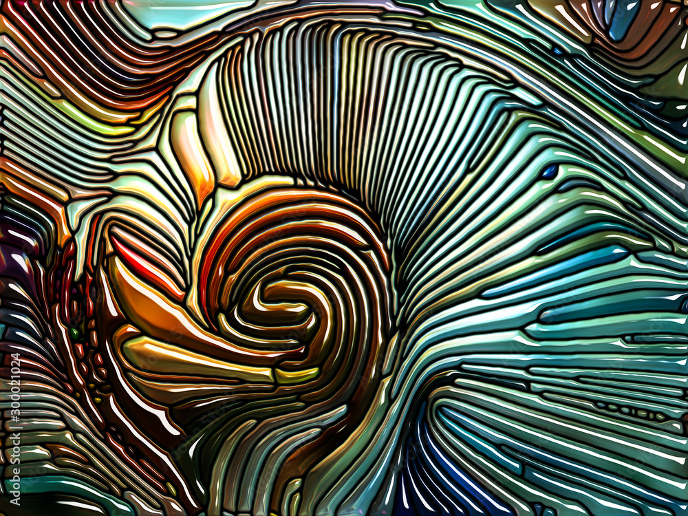 Fototapety, obrazy: Reality of Iridescent Glass