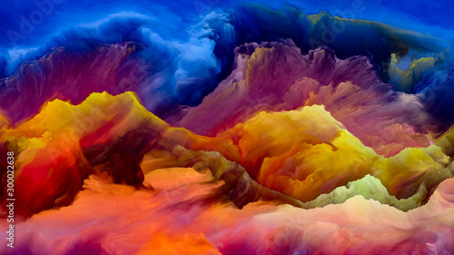 Keuken foto achterwand Oranje eclat Spirit of Cloudscape