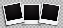 Three Empty Black Photo Frame ...