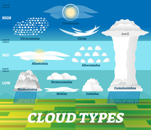 Cloud Types Vector Illustratio...
