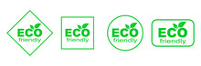 Set Of Green ECO Stickers. Eco...