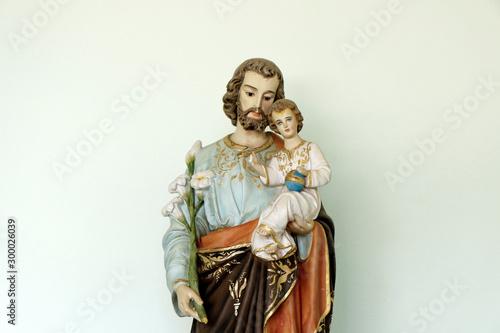 Foto Saint Joseph and baby Jesus catholic image