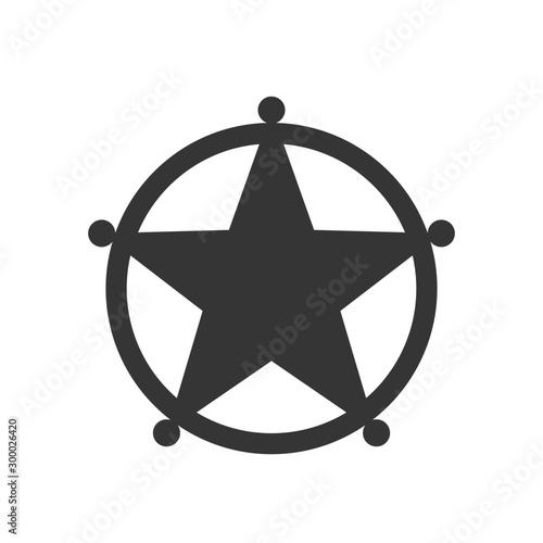 Valokuva  Vector sheriff Star icon isolated.