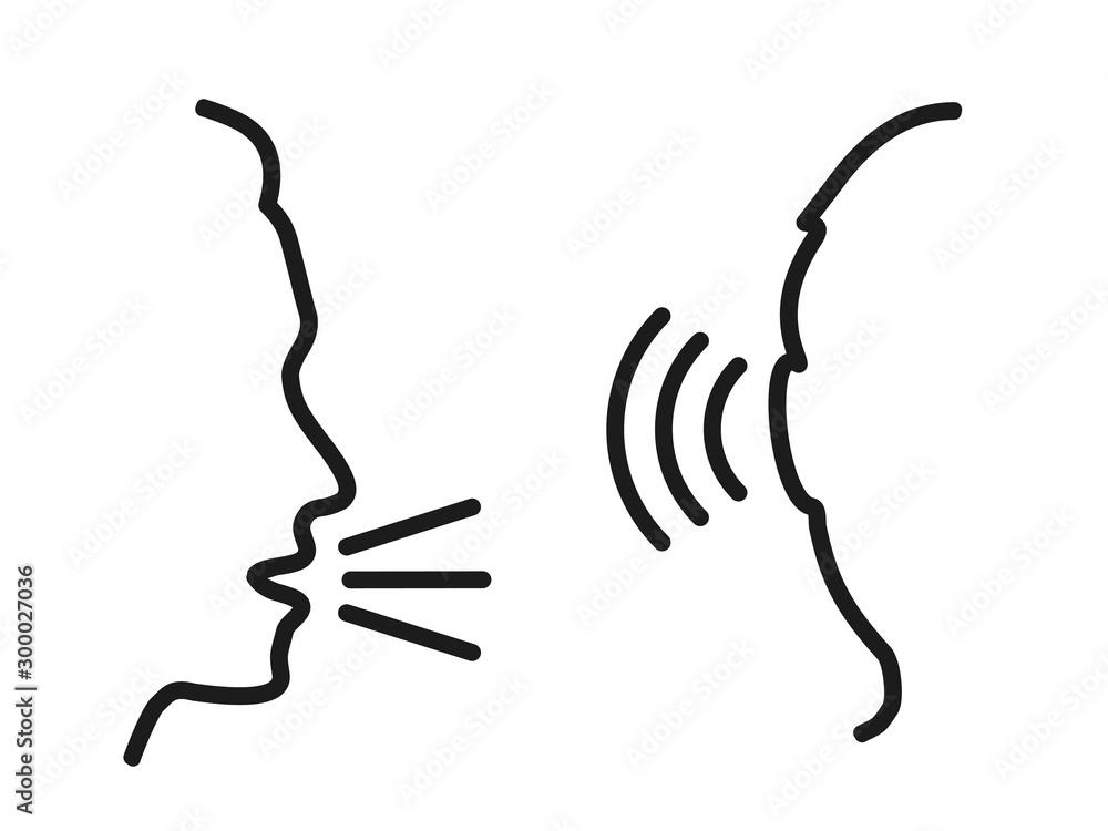 Fototapeta People talk: speak and listen – for stock