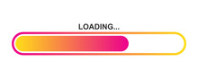 Colorful Vector Loading Icon.