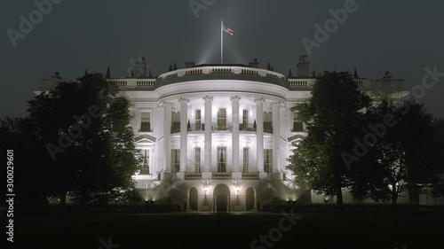 White House Night Canvas Print
