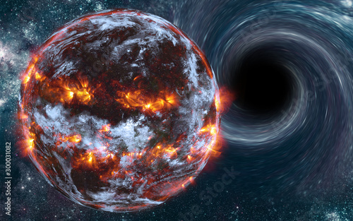 exploding-planet-near-black-hole-with-flashes-of-light-somewhere-in-deep-space-with-cosmic-dust-and-nebulae-dramatic-space-background-elements-of-this-image-were-furnished-by-nasa