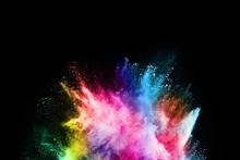 Abstract Colored Dust Explosio...