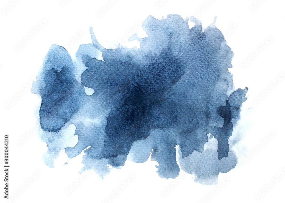 Fototapety, obrazy: abstract watercolor background.splash color gray on paper.