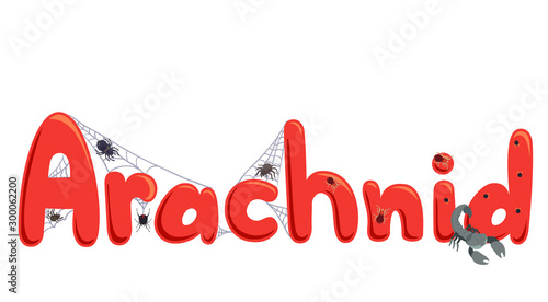 Photo Arachnid Lettering Illustration