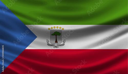 Fotomural  Equatorial Guinea wave flag vector illustration
