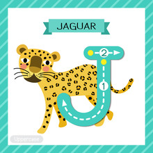 Letter J Uppercase Tracing. Wa...