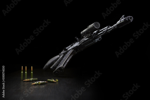 Kalashnikov assault rifle ax 74 with a 5.45 cartridge Wallpaper Mural