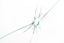 Broken And Cracked Glass With ...