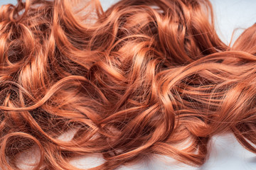 Wigs, hair. Womens beauty concept