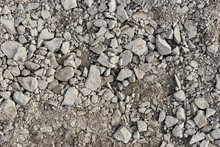 Gray Gravel Stones For The Underground In Road Construction