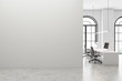 canvas print picture White open space office with mock up wall