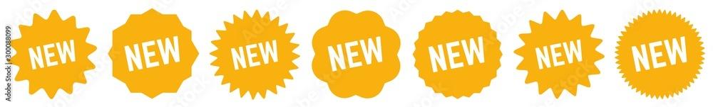 Fototapeta New Tag Orange | Special Offer Icon | Sticker | Deal Label | Variations