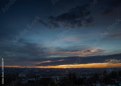 Fototapeta Sunset in the city.