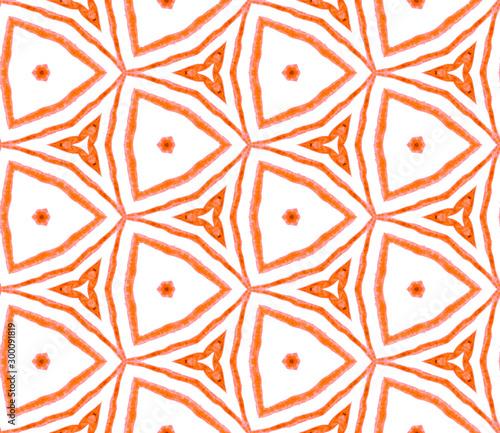 Fotografering  Orange summer seamless pattern. Hand drawn waterco