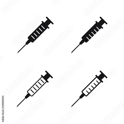 Photo Syringe, injection icon vector, filled flat sign, solid pictogram isolated on white