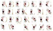 Floral Gold Alphabet, Letters ...