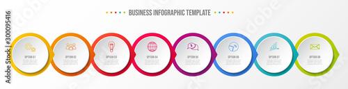 Obraz Concept of company timeline - business infograph. Vector - fototapety do salonu
