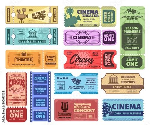 Vintage tickets Canvas Print