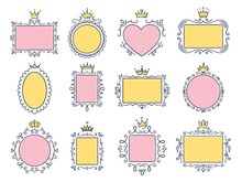 Cute Princess Frames. Pink Mir...