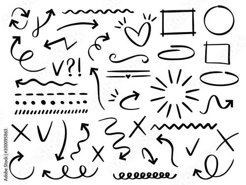 Fotografia, Obraz Sketch arrows and frames