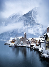 Hallstat Village In The Austri...