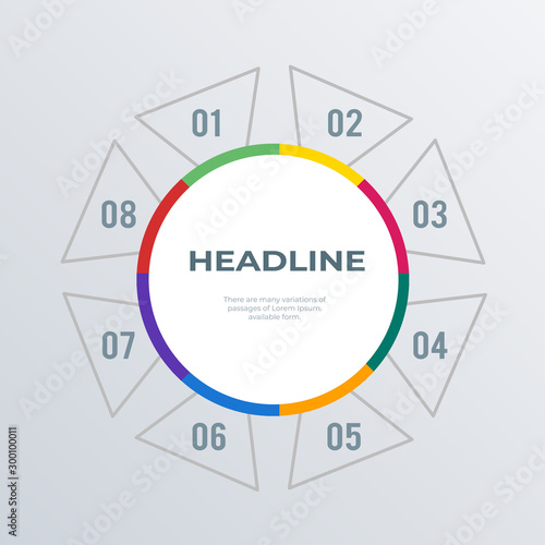 Round informational infographics template design Canvas-taulu