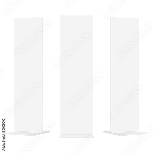Fotografía  Set of advertising totems isolated on white background