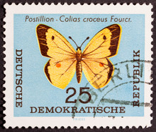 GROOTEBROEK ,THE NETHERLANDS - MARCH 15,2016 : CIRCA 1963: Stamp Printed By Germany, Shows Postilion, Circa 1963