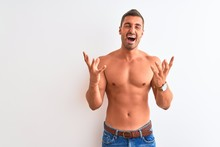 Young Handsome Shirtless Man S...