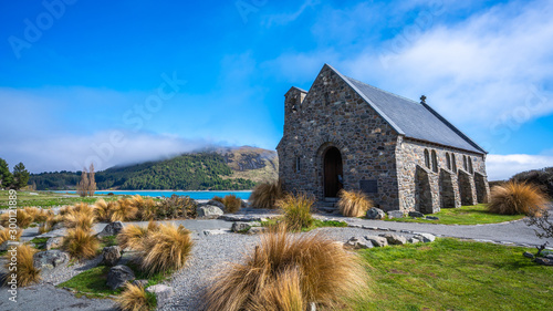Foto auf Leinwand Altes Gebaude Stone House In Otago, New Zealand