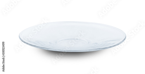 Fotografía  glass plate isolated on white background
