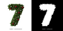 Christmas Number 7. Christmas Typography.