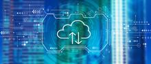 Cloud Computing With Downtown San Francisco Skyline Buildings