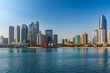 Qingdao coastline architectural landscape and urban skyline..