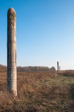 Wooden Idol Slavic God Perun O...