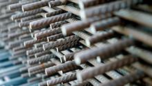 Construction Rebar Steel Work Reinforcement In Concrete Structure Of Building