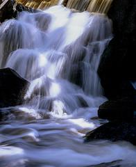 Fototapeta Wodospad waterfall in forest, sweden