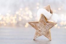 Christmas Star, Decor On Bokeh...