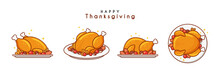 Illustration Of Baked Turkey For Thanksgiving Day