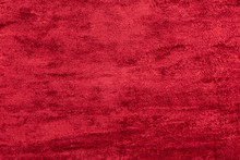 Red Velour. Background From Textured Fabric.