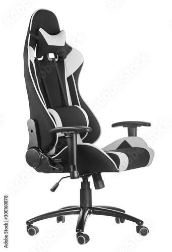 Photo Modern comfortable chair for the designer isolated on white background