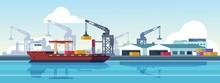Marine Port. Shipping Transpor...