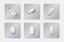 Realistic Pill Blisters Set. M...