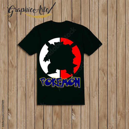 Fotografie, Obraz pokemon design shirt